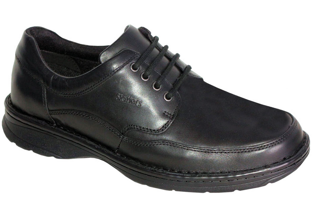 Slatters Award II Mens Leather Wide Walking Shoes