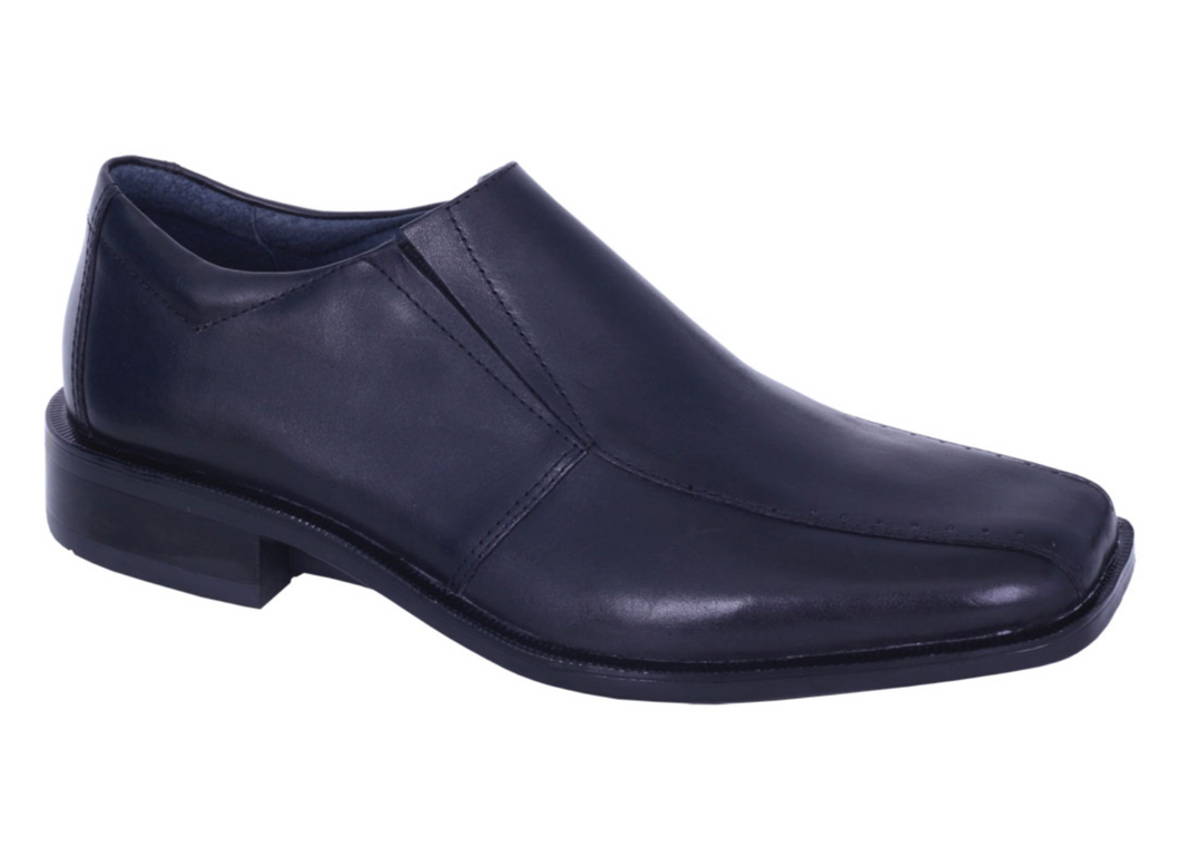 Slatters Hugh Black Mens Leather Slip On Dress Shoes
