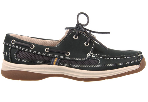 Slatters Shackle Navy Mens Comfortable Leather Boat Shoes