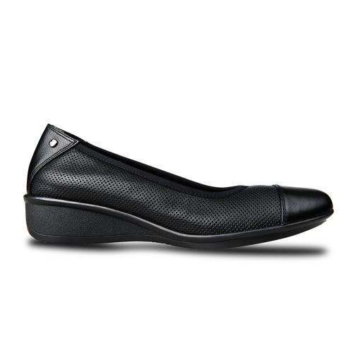 Revere Verona Ballet Wedge Black