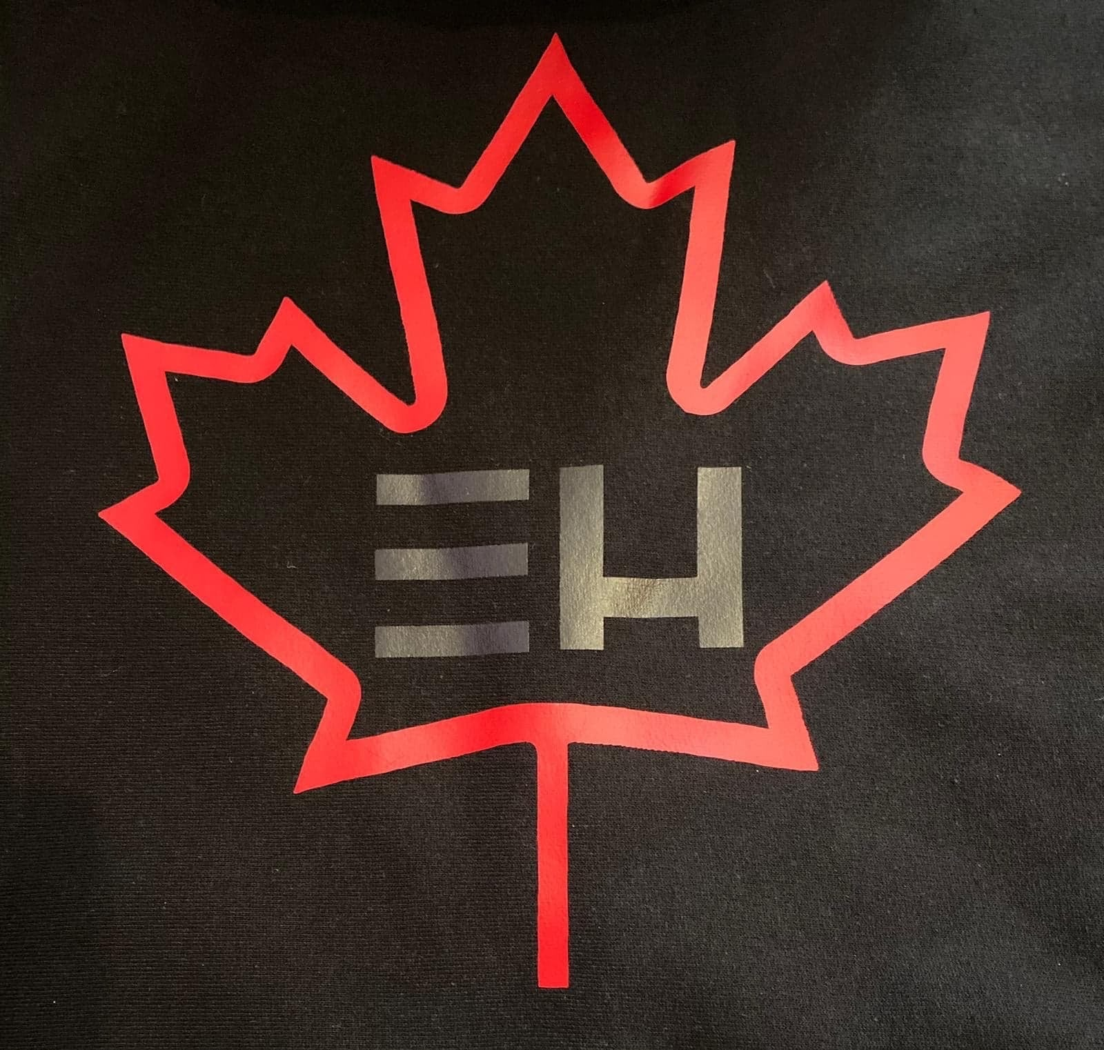 Black Canada Day Zip up Hoodie