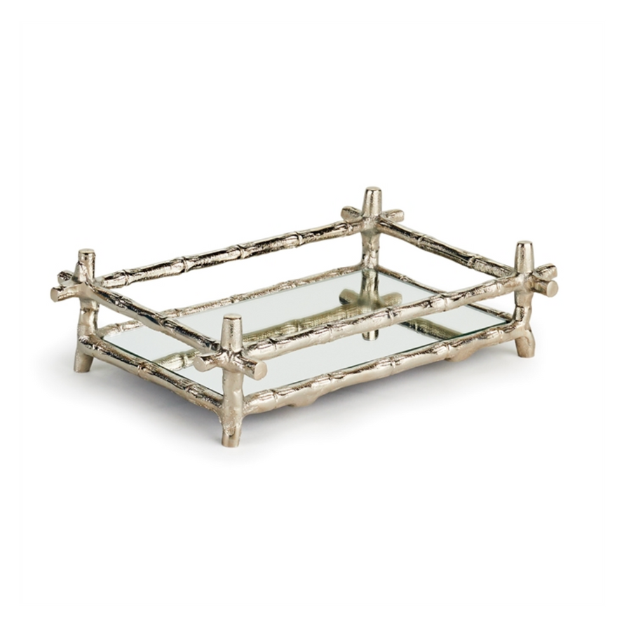 BARCLAY BUTERA BRENTWOOD MIRRORED GUEST TOWEL TRAY - Liliann Rey For The Home