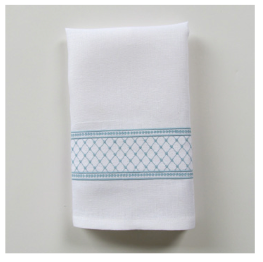 Embroidered Tip Towel - Julia Wide