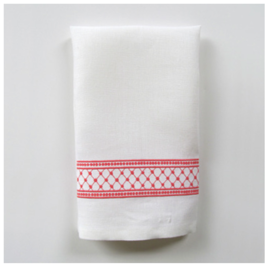 Embroidered Tip Towel - Julia Narrow