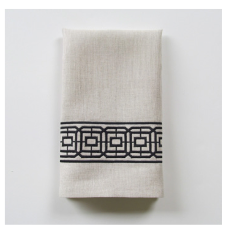 Embroidered Tip Towel - Lennox Wide
