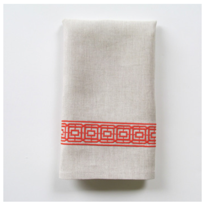 Embroidered Tip Towel - Lennox Narrow
