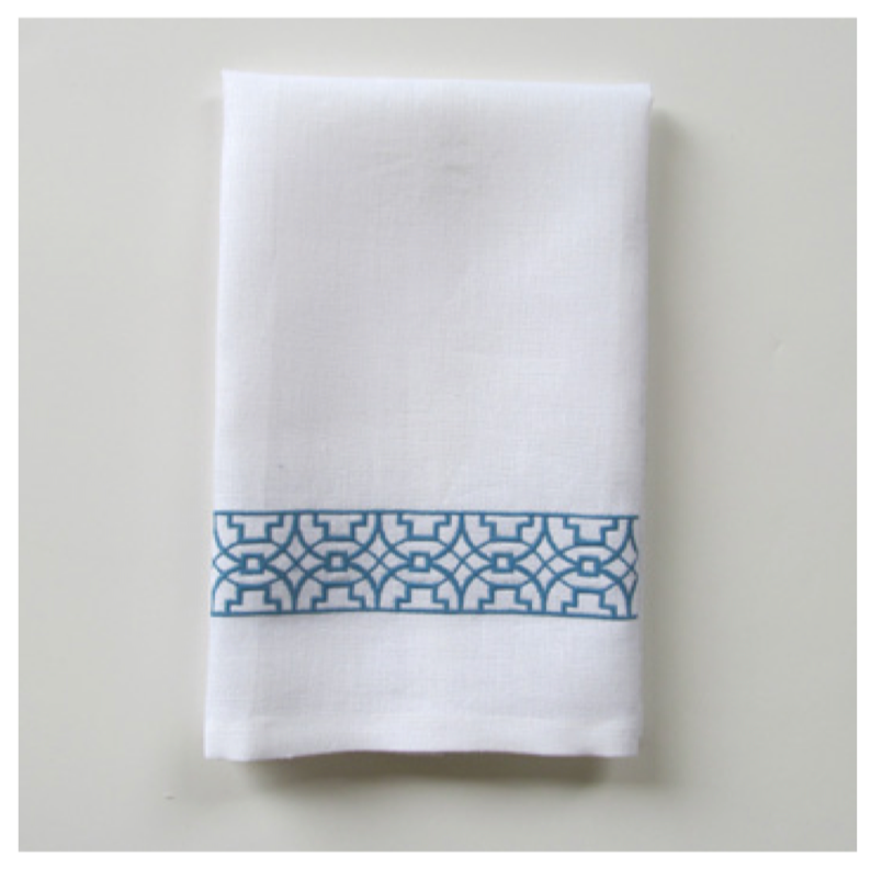 Embroidered Tip Towel - Ming Narrow