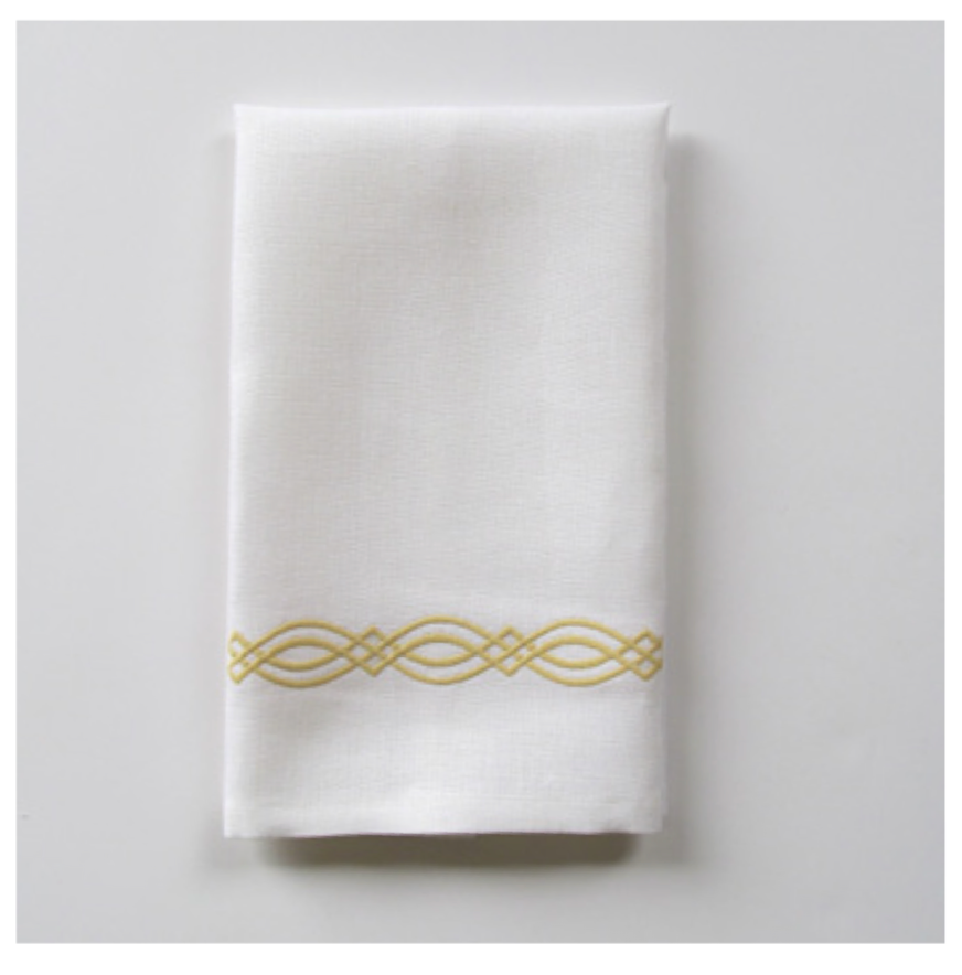 Embroidered Tip Towel - Tuscany