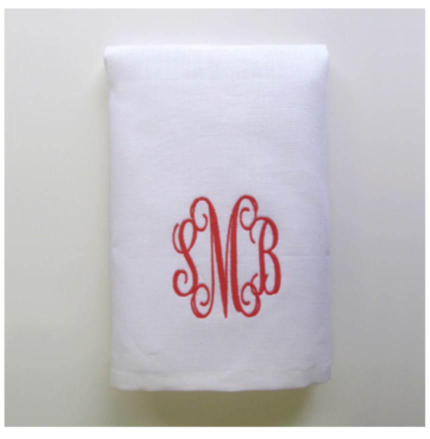 Embroidered Tip Towel - Monogram