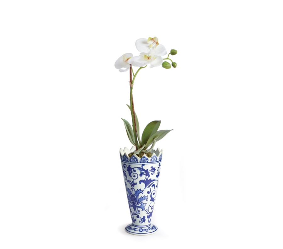 BARCLAY BUTERA DYNASTY FLORAL VASE drop-in - Liliann Rey For The Home