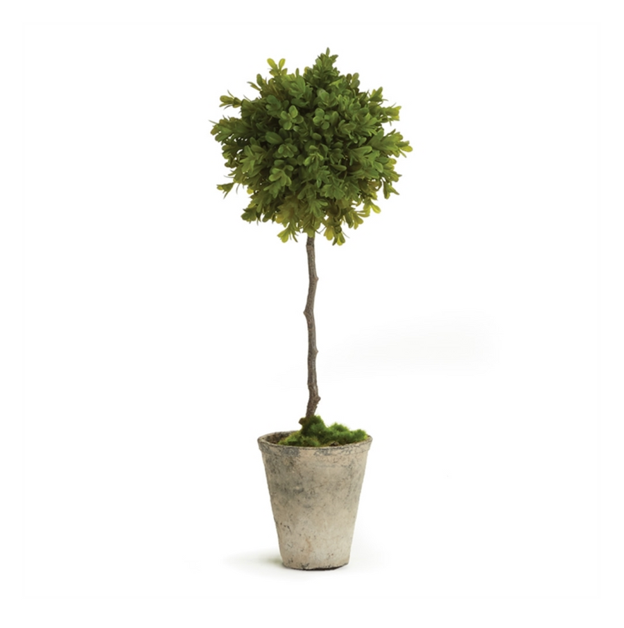 BARCLAY BUTERA FAUX BOXWOOD TOPIARY POTTED 19