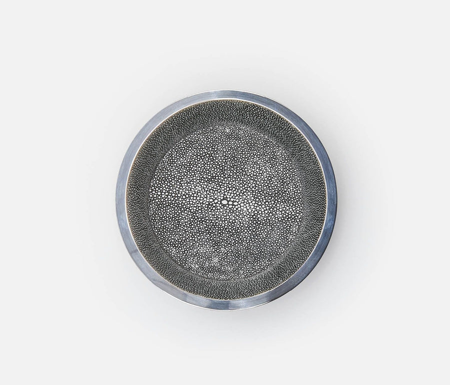 Angelica Cool Gray/Silver Wine Coaster