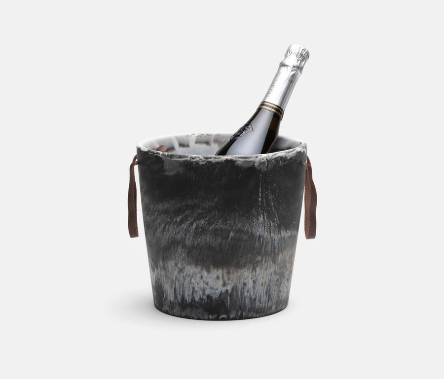Wesley Black Swirled Ice Bucket