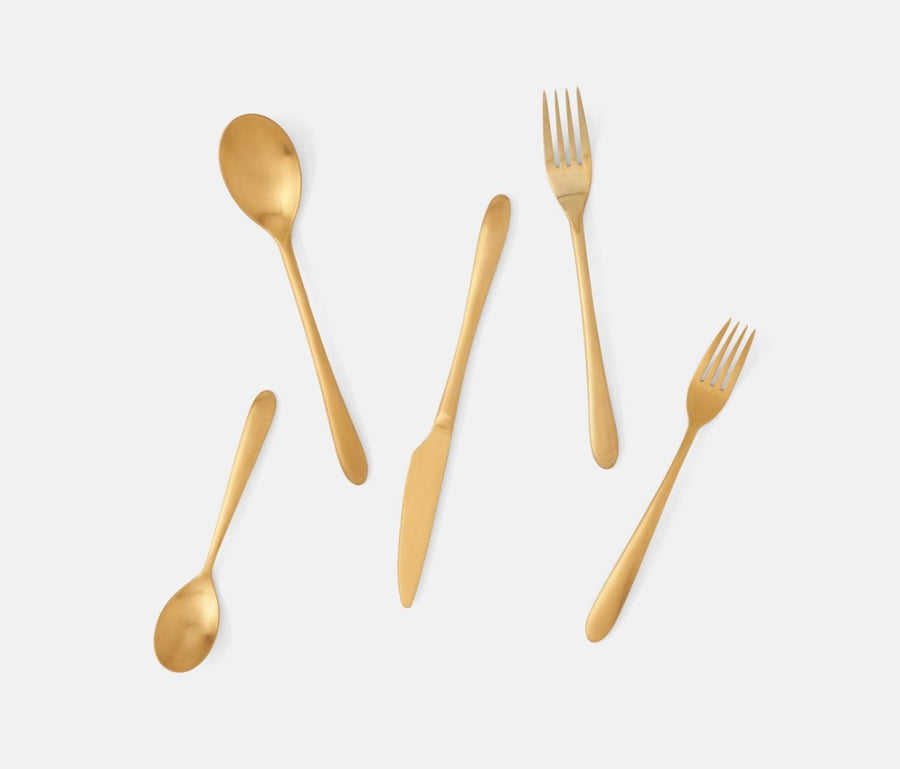 Alba Gold Flatware Set