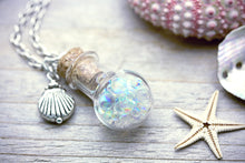 Frozen Glass Bubble Faerie Amulet Necklace