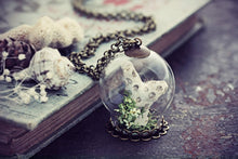 Fossil Terrarium Coral Necklace Raw
