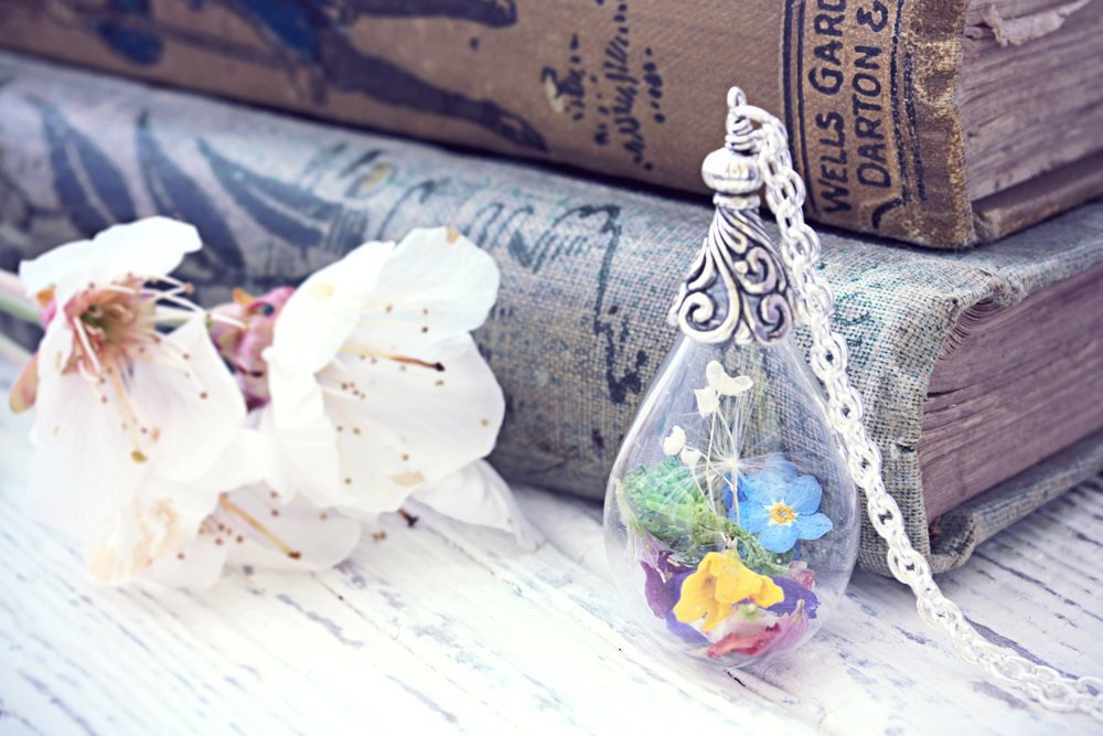Wild Flower Necklace Terrarium Jewelry