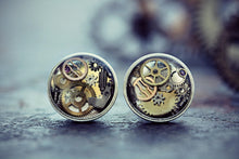 Watch Part Earrings Steampunk Jewelry