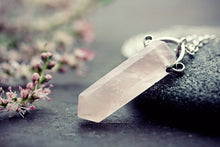 Rose Quartz Necklace Crystal Point