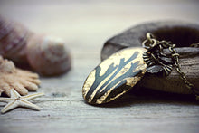 Pressed Seaweed Necklace Gold Leaf