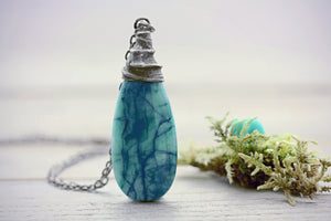Agate Necklace Crystal Jewelry Quartz