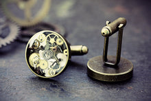 Steampunk Watch Part Cufflinks Jewelry