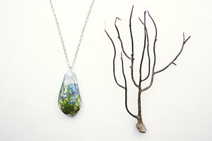 Forget Me Not Necklace Botanical