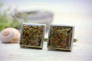 Woodland Cuff Links Lichen Cufflinks