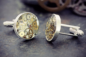 Watch Part Cufflinks Steampunk Men's