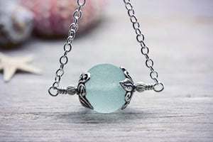 Seaglass Marble Necklace Genuine Seaham