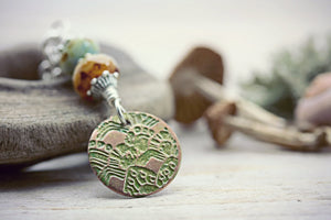 Mountain Necklace Wanderlust Jewelry Green