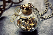 Steampunk Necklace Watch Parts Pendant