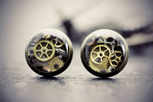 Steampunk Earrings Clockwork Jewelry Watch