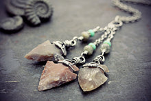 Flint Arrowhead Necklace Jasper Jewelry