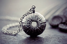 Sea Urchin Necklace Fine Silver