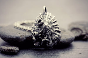 Limpet Necklace Fine Silver Ocean