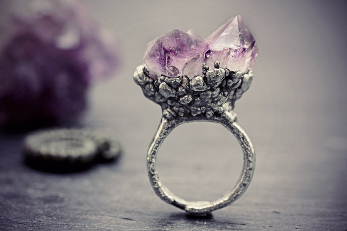 Amethyst Ring Quartz February Birthstone