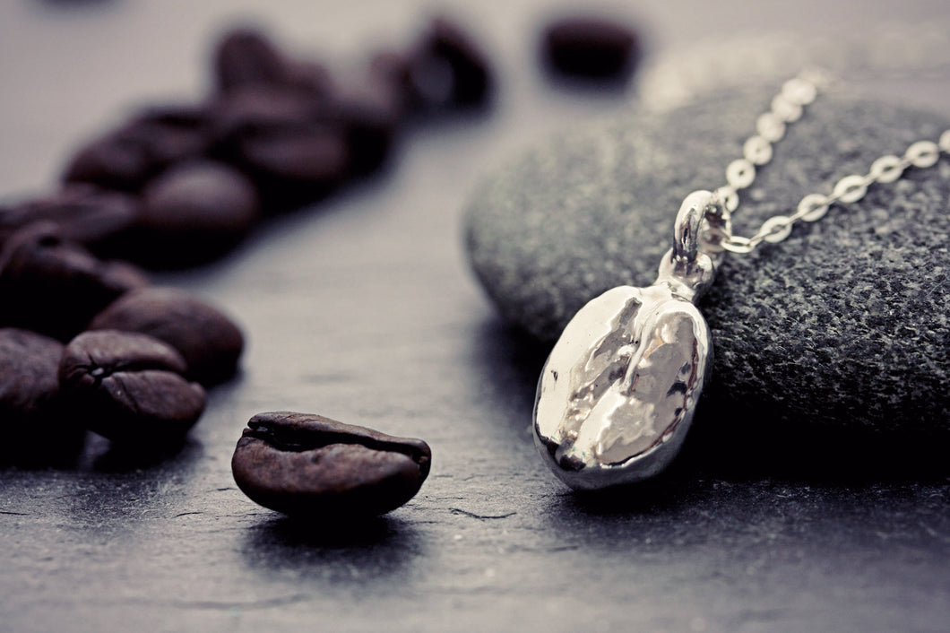 Real Coffee Bean Necklace Fine