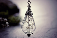Babys Breath Necklace Dried Flower
