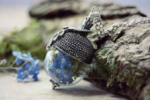 Acorn Necklace Forget Me Not