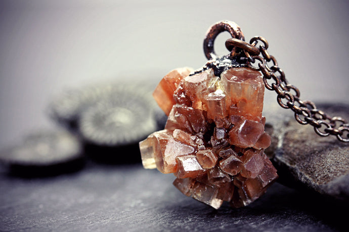 Aragonite Star Cluster Necklace Sputnik
