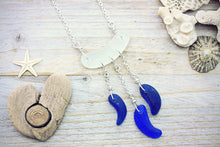 Seaglass Necklace Cobalt Blue Beach