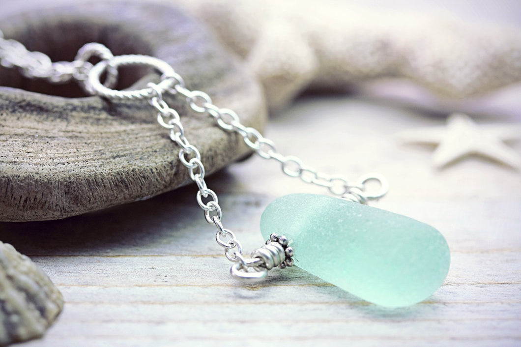 Seaglass Necklace Beach Pendant Mermaid