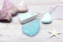 Sea Pottery Necklace Turquoise Seaglass
