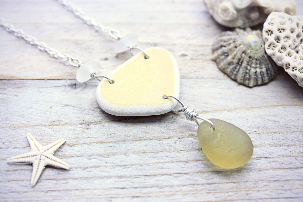 Sea Pottery Necklace Chartreuse Sea