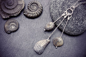 Fossil Necklace Ammonite Pendant Paleontologist