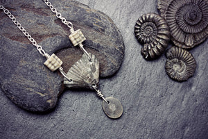 Fossil Necklace Brachiopod Sea Lilies