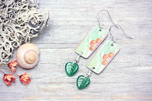 Tin Earrings Upcycled Jewellery Orange