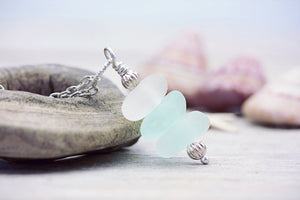 Mermaid Sea Glass Stack Necklace