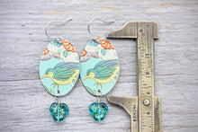 Rustic Tin Earrings Upcycled Jewellery
